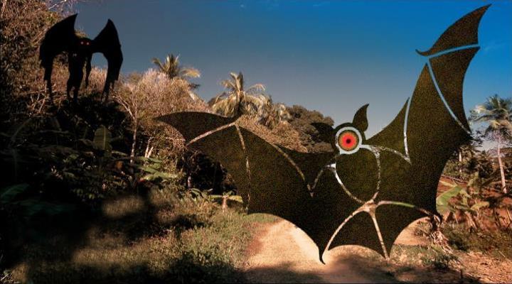 Popobawa: Das Batman-Monster von Sansibar in Afrika (Bilder: gemeinfrei / mothmanfestival.com / CNN.com / Montage: Fischinger-Online)