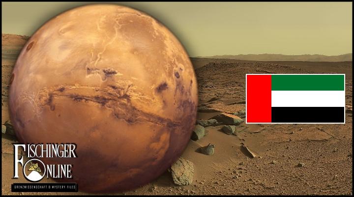 Die Vereinigten Arabischen Emirate planen die erste Stadt auf dem Mars (Bilder: NASA & WikiCommons/gemeinfrei)