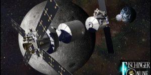 """""""Deep Space Gateway"""" nach den Plänen der NASA und Roskosmos: Die erste bemannte Raumstation um den Mond soll ab 2022 gebaut werden (Bild: NASA)"""