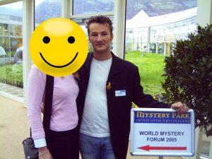 """Lars A. Fischinger auf dem """"World Mystery Forum"""" 2005 in Interlaken (Bild: L. A. Fischinger)"""