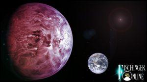 """Für die Alcione-Gesellschaft ist Nibiru das Böse und heißt """"Hercólubus"""" - und bringt natürlich den Weltuntergang! (Bilder: NASA / Montage/Bearbeitung: L. A. Fischinger)"""
