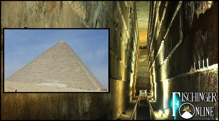 In der Cheops-Pyramide wurde ein ca. 30 Meter langer Hohlraum nachgewiesen (Bilder: L. A. Fischinger/S. Ampssler)