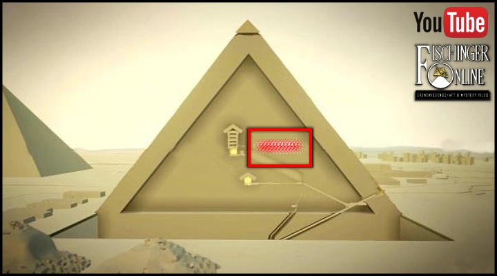 VIDEO: Riesiger Hohlraum in der Cheops-Pyramide gefunden: Video-Zusammenfassung aller Fakten! (Bild: Scan Pyramids/HIP Institute / Bearbeitung: L. A. Fischinger)
