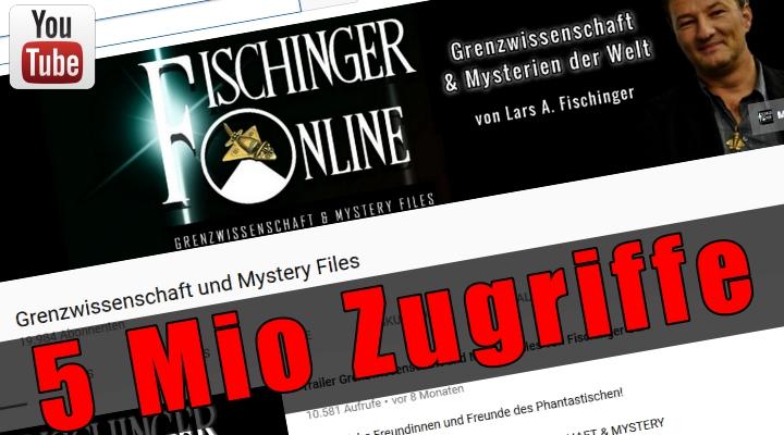Grenzwissenschaft und Mystery Files sagt DANKE für über 5 Mio Aufrufe ! (Bild: Screenshot YouTube)