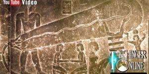 Eines der Wandreliefs aus dem Hathor-Tempel von Dendera: Elektrische Lampen im Alten Ägypten (Bild: F. Dörnenburg /Pyramidengeheimnisse.de/)