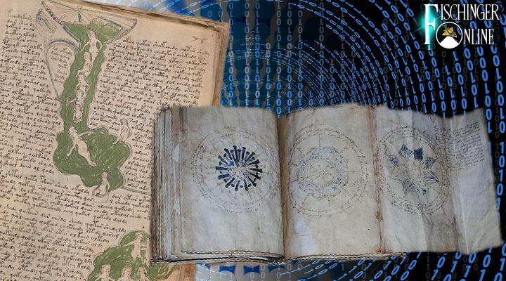 Künstliche Intelligenz soll das Rätsel des Voynich-Manuskript knacken (Bilder: gemeinfrei / Montage: Fischinger-Online)