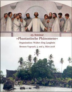 Phantastische Phänomene 2018 - Plakat von Walter-Jörg Langbein