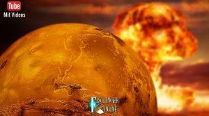 Haben Außerirdische auf dem Mars einen Atomkrieg geführt? (Bilder: NASA & gemeinfrei / Montage: Fischinger-Online)