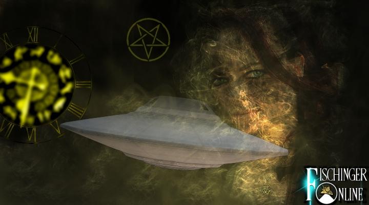 """UFOs und die Psychologie: """"UFOs als real zu sehen korreliert mit dem Lesen von Science-Fiction, weil man glaubt, dass die Astrologie genau ist und an das Okkulte glaubt."""" (Bilder: gemeinfrei / Montage: Fischinger-Online)"""