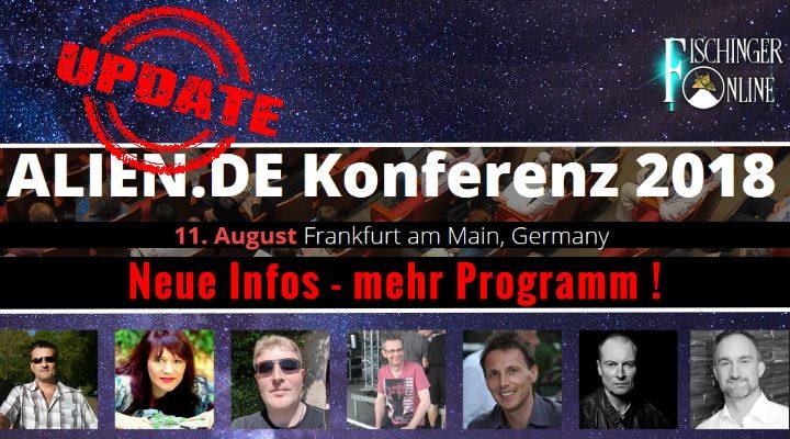 UPDATE zur Alien.de-Konferenz am 11. August 2018 in Frankfurt/M.: Alle Infos, Details, Anmeldung und das Programm (Bild: M. Schädler / Fischinger-Online)