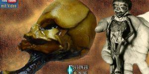 """Der """"Mini-Alien"""" aus Chile - und sein verschollener Bruder (Bilder: A. Kramer / ripleys.com / Montage: Fischinger-Online)"""