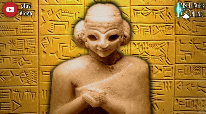 Glaubten die uralte Zivilisation der Sumerer wirklich an Außerirdische? (Bilder: gemeinfrei / LAF / Bearbeitung: Fischinger-Online)