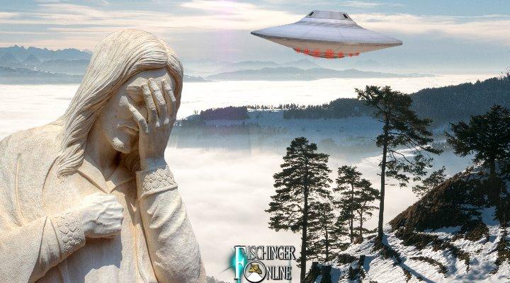 Das schweizer Tösstal: Ein Sammelpunkt von UFO- und Jesus-Gläubigen aller Art und Unart (Bilder: gemeinfrei / Montage: Fischinger-Online)