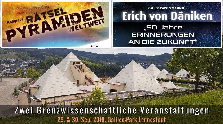 Kongress Rätsel Pyramiden weltweit und Erich von Däniken im Galileo-Park Lennestadt