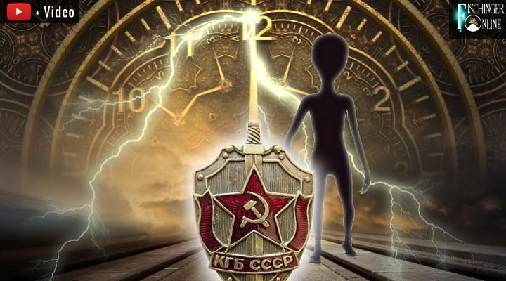 Zeitreisender Ex-KGB-Agent traf sich mit Aliens im Jahr 4000 - sagt er (Bilder: gemeinfrei/LAF / Montage: Fischinger-Online)