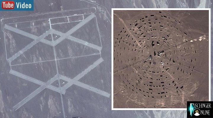 """Neue Spekulationen um """"Chinas Area 51"""" manchen die Runde (Bilder: Google Earth / Fischinger-Online)"""