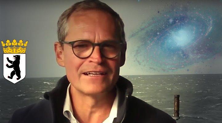 Berlins regierender Bürgermeister Michael Müller glaubt an Aliens - und wäre gerne Astronaut geworden (Bild: YouTube-Screenshot / Montage: Fischinger-Online)
