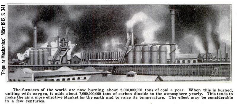 """Erderwärmung und Treibhausgase: Wissenschaftler warnten bereits vor über 100 Jahren in dem Magazin """"Popular Mechanics"""""""