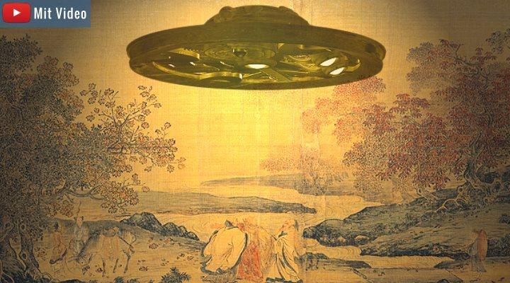 """Netzfundstück: Video """"Verbotene Archäologie: Dropa Steine - Stammen Chinesen von Aliens ab?"""" (Bilder: gemeinfrei / Montage: Fischinger-Online)"""