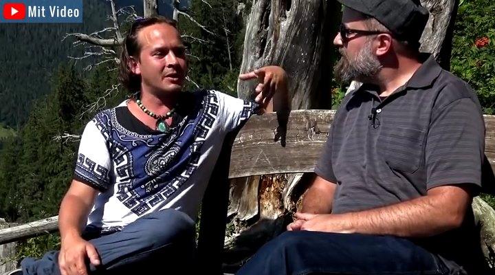 """Video-Interview von """"Hangar18B"""" mit Ramon Zürcher, Freund und rechte Hand von Erich von Däniken (Bild: YouTube-Screenshot """"Hangar18B"""")"""
