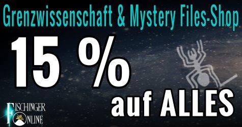 Mystery- Fan- und Fun-Shop von Fischinger-Online: Alles rund um UFOs, Grenzwissenschaft, Mystery, Aliens und mehr