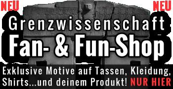 Der Fan- und Fun-Shop von Fischinger-Online: Shirts & Kleidung, Tassen & mehr mit exklusiven Motiven zu UFOs, Grenzwissenschaft, Mystery, Aliens und mehr!