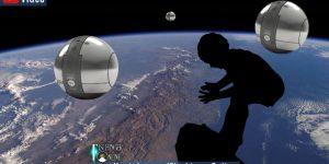 Samen, Eizellen & Weltraum-Babys im All ... Zur Rettung der Menschheit: Die Pläne eines Start-Up (Bilder: gemeinfrei & spacelifeorigin.com / Bearbeitung/Montage: Fischinger-Online)