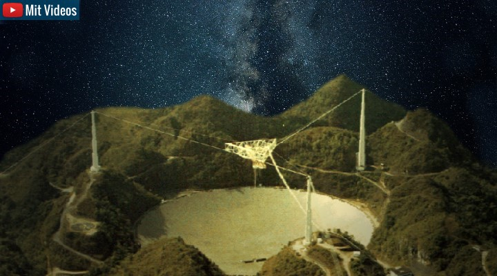 Wettbewerb: Wissenschaftler des Arcecibo Radioteleskop wollen 2019 erneut eine Nachricht an Außerirdische senden (Bilder: gemeinfrei / Bearbeitung/Montage: Fischinger-Online