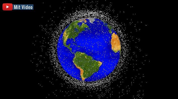 Gefahr aus dem All - Auch die ESA will Weltraumschrott abwehren und kontrollieren (Bild: PixaBay/gemeinfrei / Bearbeitung: Fischinger-Online)