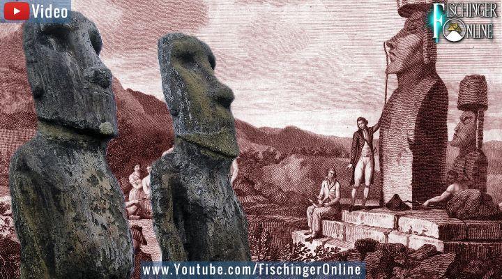 VIDEO: Das Rätsel der Moai-Figuren der Osterinsel - ist es wirklich gelöst? (Bilder: gemeinfrei & W.-J. Langbein / Montage: Fischinger-Online)
