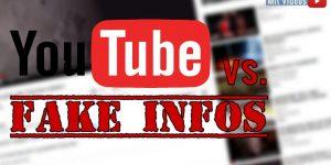 Verschwörungstheorien, Falschinformationen, Unsinn & Co.: Der Kampf von YouTube gegen Fake News geht auch 2019 in eine neue Runde (Bilder: YouTube/gemeinfrei / Montage: Fischinger-Online)