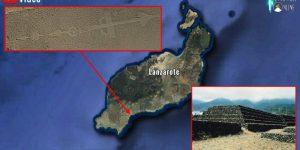 Die Scharrbilder von Lanzarote und andere Geheimnisse der Kanarischen Inseln (Bilder: Google Earth & gemeinfrei / Montage/Bearbeitung: Fischinger-Online)