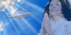 """UFO-Sekten Führerin und """"Sprachrohr Gottes"""" Uriella ist tot (Bilder: gemeinfrei & Blick.ch / Bearbeitung/Montage: Fischinger-Online)"""