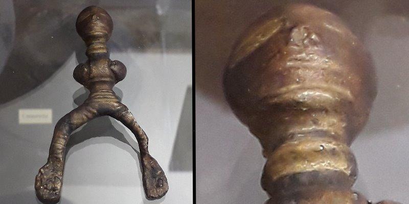 Der keltische Gürtelschmuck in einem Museum in Leipzig (Bilder: Fischinger-Online)