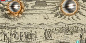 """Zeichen am Himmel: Rätselhafte """"UFO-Sichtungen"""" im Jahre 1697 über Norddeutschland (Bild: gemeinfrei / Bearbeitung/Montage: Fischinger-Online)"""