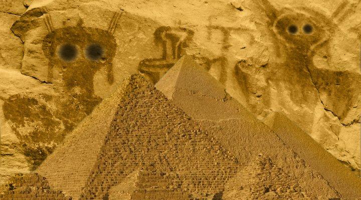 US-Archäologe widerlegt Ancient Aliens und Verschwörungstheorien um die Archäologie - hat er das? (Bilder: PixaBay/gemeinfrei & L. A. Fischinger / Bearbeitung/Montage: Fischinger-Online)