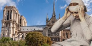 Die Seherin Anna Katharina Emmerick: Sah sie den Brand von Notre-Dame in Paris voraus? (Bilder: gemeinfrei / Montage: Fischinger-Online)