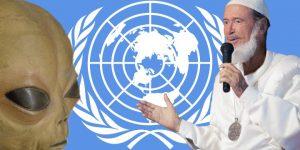 UFO-Sekte Real-Bewegung und ihr Botschaftsgebäude für die Aliens: Jetzt soll es die UN regeln (Bilder: Fischinger-Online / gemeinfrei / Real.org / Montage: Fischinger-Online)