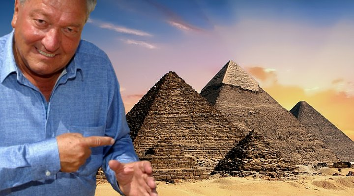 Mit Erich von Däniken in Ägypten: Erstaunlich positives in der Mainstreampresse und interessante User-Kommentare (Bilder. T. Ingold & PixaBay/gemeinfrei / Montage: Fischinger-Online)