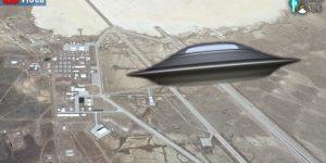 VIDEO: Aufruf bei Facebook - Hunderttausende UFO-Fans wollen die Area 51 stürmen ... (Bilder: Google Earth & PixaBay/gemeinfrei / Montage: Fischinger-Online)