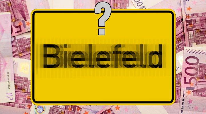 Eine Million Euro Belohnung von der Stadt Bielefeld für den Beweis - dass Bielefeld nicht existiert … (Bilder: gemeinfrei / Montage: Fischinger-Online)