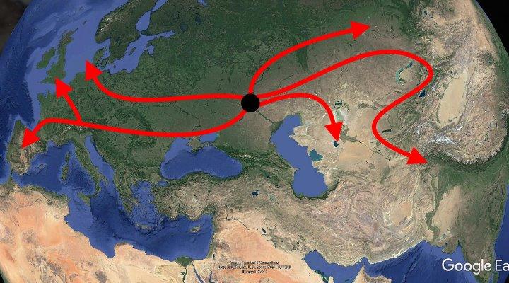 Archäologen und Genetiker auf der Suche nach dem Ursprung unserer Sprache - mit erstaunlichen Ergebnissen (Bild: Google Earth / Bearbeitung: Fischinger-Online)