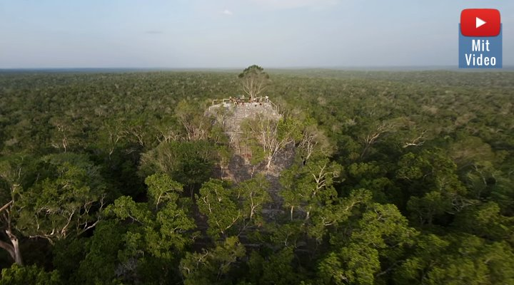 """Die verlorene Pyramide der Maya"" von El Mirador in Guatemala (Bild: Screenshot YouTube/""Yes Theory"")"