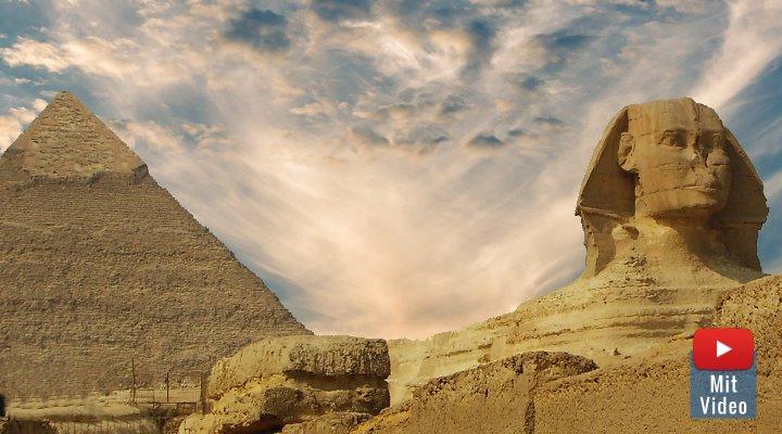 Geheimkammer unter der Sphinx könnte den Weg zu verborgenen Schätzen der Pharaonen weisen (Bild: Fischinger-Online)