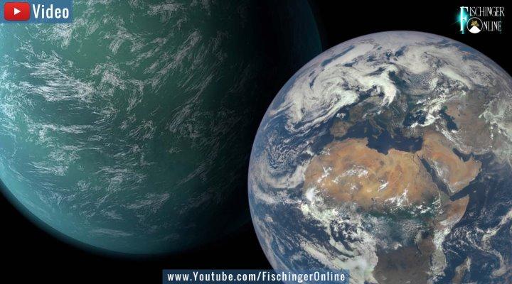 VIDEO: Erstaunliches bei der Suche nach Leben im All: Exoplaneten könnten für die Entstehung von Leben besser geeignet sein als die Erde (Bilder: NASA/JPL / Montage: Fischinger-Online)