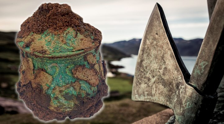 Streit um den Wikingerschatz von Schottland: Die Kirche möchte ihren Anteil und klagt (Bilder: D. McLennan & M. McSweeney / visitgreenland.com / Montage: Fischinger-Online)