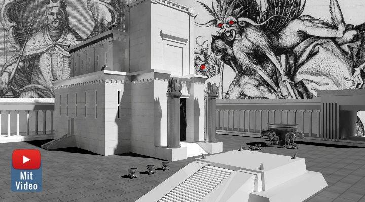 ARTIKEL: Die Dämonen im Bann: Seltsames über König Salomon und dem Bau des Tempels von Jerusalem (Bilder: gemeinfrei / WikiCommons/gemeinfrei / Montage: Fischinger-Online)