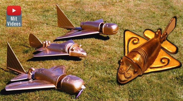 """Die """"Goldflieger der Ancient Aliens"""" aus Kolumbien: Was weiß und sagt Wikipedia eigentlich darüber? (Bilder: R. Habeck & Fischinger-Online)"""