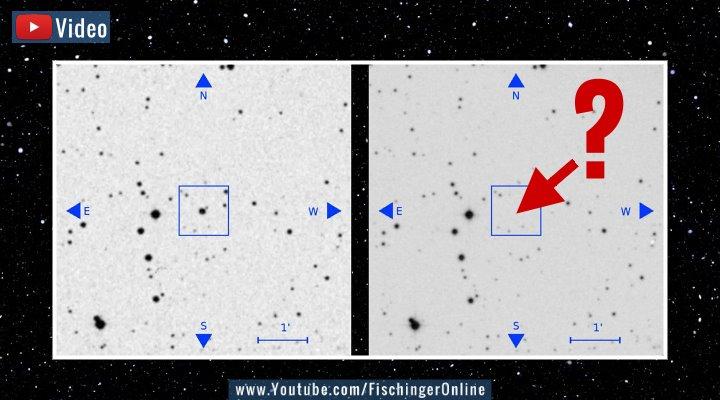 """VIDEO: Plötzlich waren sie weg: Astronomen vermissen min. 100 Sterne - Sogar Aliens werden verdächtigt (Bilder: gemeinfrei & B. Villarroel/""""The Astrophysical Journal"""" / Montage: Fischinger-Online)"""