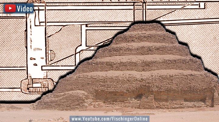 VIDEO: Die Stufenpyramide von Sakkara und die Unterwelt: Bald für Touristen (Bilder: gemeinfrei / Montage: Fischinger-Online)